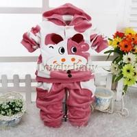 Hot Baby Boy Kids Children's Cartoon Hoodies Clothes Spot Cow Cute Hooded Long Sleeve Top + Pants 2PCS Casual Suit sv18 SV013032
