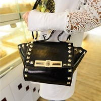 Fashion 2014 spring and summer rivet smiley bag portable one shoulder cross-body small bags women's handbag