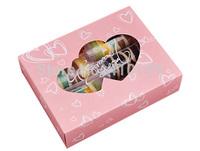 Free shipping wholesale 40pcs/lot 22*17*5.5cm fashion pink cake packaging box,biscuit packaging box