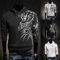 Spread 2014 NEW fashion Korean Men's Male Casual Hooded Hedging Sports sweater coats man Hoodies Sweatshirts slim Hooded sweater