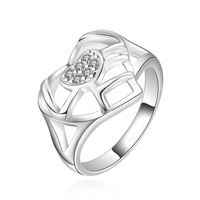 Free Shipping!!Wholesale 925 Silver Ring,925 Silver Fashion Jewelry,web for heart Ring SMTR510