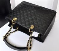Women High Quality Quilted Chain Handbag, famous brand Fashion Classic Caviar Leather 34cm GST Grand  Tote big Bag cc2014