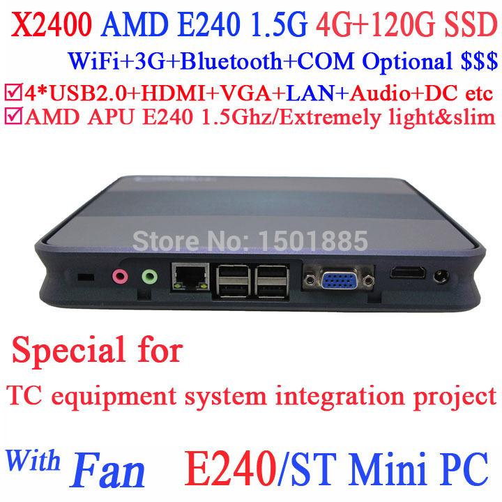 2015 new product thin client mini pc,Mini pc windows xp with AMD APU E240 1.5Ghz 4G RAM 120G SSD(China (Mainland))