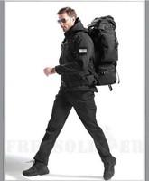 TAD Tactical Gear Shark Skin Softshell Outdoor Jacket& Military Pants Men Waterproof Army Camouflage Hoody Hunt Hiking Clothing