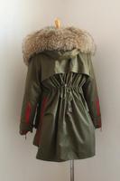 Hot!Autumn Winter Women Big Fur Collar Dovetail Cotton Coats Sweet Girls Warm Loose Brand Army Green/Black/Gray Outwear/Parkas
