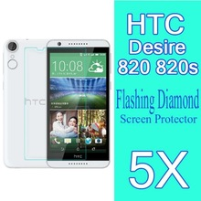 5x In Stock Mobile Phone Diamond Screen ProtectorFor HTC Desire 820 820s D820U 5.5″inch Octa Core protective Film-Wholesales