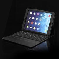 Black Bluetooth Silicon Keyboard Leather PU Case Cover for Apple Ipad Air iPad Air 2 iPad 6 New Cute