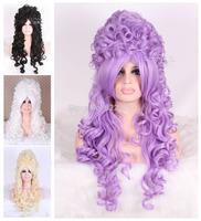 Modern Marie Antoinette Victorian Renais sweet love lolita long wavy cosplay wig Kanekalon Fiber no lace Hair wigs Free shipping