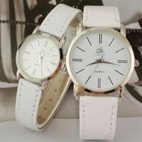 Simple Elegant Wristwatches with PU Band Three Stitches Fashion Lovers Quartz Watch New Popular digital Dress Watches
