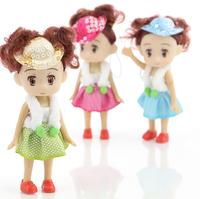 Ddung pendant doll 12pcs 10cm exquisite Sequins cap dream girl cloth bag key chain wedding gift baby prize wholesale
