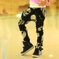 2015 Korean Fashion Boy Pants Harem Spring Autumn Children Trousers Skull Printed Causal Kids Pant Children's Clothing c10