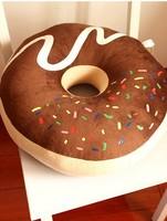 Super cute soft plush sweet doughnut seat pillow cushion,warm chocolate cake seat cushion,creative birthday gift for girls, 1pc