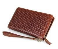 Genuine leather men wallets J.M.D high-grade leather bags woven design card holder men's wallet vintage wallets men purse 8068