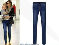 2015 Antumn winter women jeans long casual skinny pants legging women clothing blue Plus size women trousers pencil pants