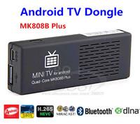 Whole sale TV Dongle MK808B Plus Quad-Core Amlogic M805 1G+8G Bluetooth Android 4.4 OS H.265 Miracast DLNAAndroid mini PC