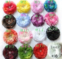 Fashion 3.5'' jewelry peony (20pcs/lot) with hair clips/hair flowers/ interchangeable flower hair accessories,bows flower HD3335
