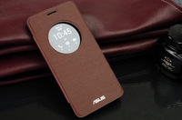 Fashion Sleeps And View Window PU Flip Leather Back Cover Battery Housing Case For ASUS ZenFone 6 With Retail Package