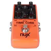 F11145 NUX Time Core Guitar Digital Delay Pedal with Loop Machine 7 Delay Effects 40 seconds Stereo Loop Machine True Bypass FP