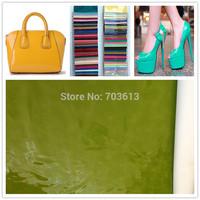 Y619 Fashion PU patent leather Mirror leather Shinny leather fabric Glossy leather MOQ 1YARD