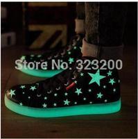 2015 men leisure British noctilucent sandals fluorescent glow male couples tide shoes bag mail
