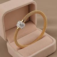 Miss Europe 2014 new titanium steel bangle bracelet magnetic buckle bracelet female mud handmade jewelry wholesale