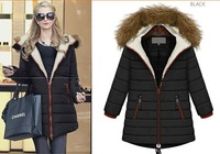 2015 winter coat outdoor thick fashion hoodies parkas Down padded collar Nagymaros down jacket overcoat 2color Plus size M-5XL