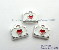 Free shipping! 10PCS  Suitcase Floating charms DIY Accessory Fit for Floating Locket FC399