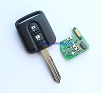 for Nissan Duke car 2 button remote key 433mhz with ID46 transponder chip