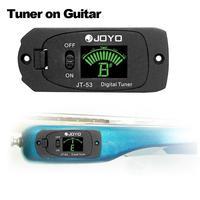 10PCS / LOT JT-53 tuner Chromatic Digital Guitar Tuner For Electric Guitar JT-53 Digital Tuner W/Screen
