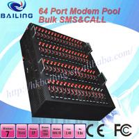 Hot Selling  64 port  Q24plus Quad band bulk sms gsm gprs with tcp /ip modem pool