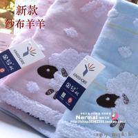 3pcs/lot Face Towel double layer gauze waste-absorbing squareinto cartoon sheep baby towels cotton towels 36*34cm
