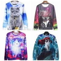 Hot Sale New Arrival Sports Hoodies For Men Harajuku 3D Cat/Dog Print Sweatshirt Hip Pop Skateboard Chandal Free Shipping n3d010