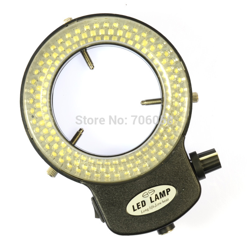 Adjustable 144 LED Ring Light illuminator Lamp For Industry Stereo Microscope Digital Camera Magnifier with AC Power Adapter(China (Mainland))