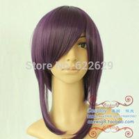 Long Dark Purple New Cosplay Party Wigs Fashion Hair Full Wigs Kanekalon Fiber no lace Hair wigs Free shipping