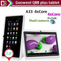 Gooweel Q88 plus 7inch A33 Quad core tablet pc android 4.4  RAM 512MB ROM 4GB Wifi Bluetooth Dual Camera OTG