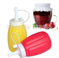 2Pcs/lot 2015 new free shipping Sauce Squeeze Salad Bottle Jam Bottle Hooded Jam Squeeze Bottle Sauce Seasoning Bottle