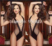 Women's Sexy Lingerie Lace Dress Underwear Black Babydoll Sleepwear+G-string