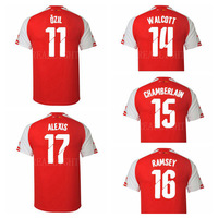 A+++ Thai Quality Man.14-15 Home Red Soccer Jerseys,Alexis Walcott Giroud Ozil Ramsey Soccer Jerseys Uniform
