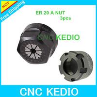 3pcs standard quality Hex ER11 A nut for ER11 collet clamping gland nut carving machine spindle jaw chuck ER11A nut