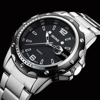 Sale Luxury Brand Skone Men Stainless Steel Watch Relogio Masculino Military Quartz Calendar Wristwatch Relogio Rolojes 7147