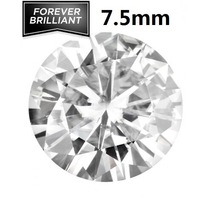 FOREVER BRILLIANT Certified 1.5 Carat  White Loose Moissanite Stones Round Brilliant Cut 7.5mm VVS F-G Colorless Free Shipping