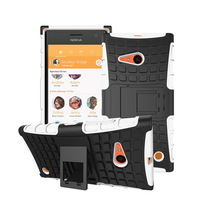 Mix Color Dual Armor TPU&PC Robot Phone Case Cover With Stand Bracket For Nokia Lumia 735 730