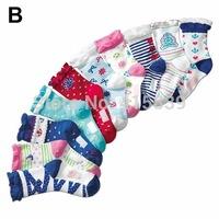 100pair/lot  navy design warm cotton children kids Toddler girls socks for 4-8 years old
