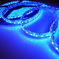 Nice Waterproof Bar 5M 600 LEDs Flexible SMD 3528 Blue Light Strip Car House 12V