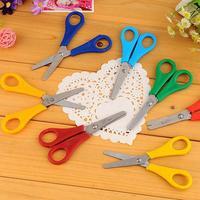 50PCS Stainless steel scissors paper cutter scrapbook Yarn photo album scissors children kids Stationery scissors Free Shipping