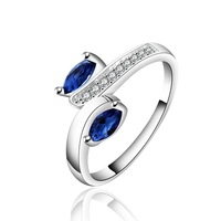 925 Silver Ring CZ crystal wedding ring women Rings jewelry 2014 new Fashion punk wholesale Free Shipping PCR626