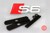 Car Front Hood Grill Badge Grille Emblem Logo stickers S6 for A4 A5 A6 A7 A8 Q3 Q5 Q7 1set
