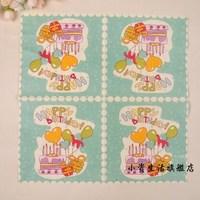 Birthday cake balloon napkins B147  60pcs/lot tissue paper napkin party supplies wedding decorations factory direct sales