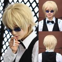 Angelaicos DuRaRaRa!! DRRR!! Shizuo Heiwajima Boy Short Blonde Halloween Party Cosplay Wig