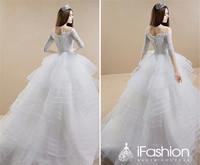2014 New Desgin Hot Sale Ball Gown Wedding Dress Vestidos De Noiva 2015 Elegant Lace Organza  Custom Made Bridal Gown WE2